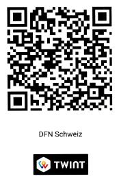 TWINT Spende DFN Schweiz
